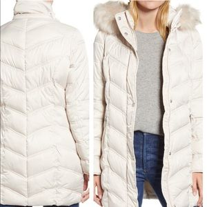 Kenneth Cole New York Faux Fur Trim Puffer Jacket